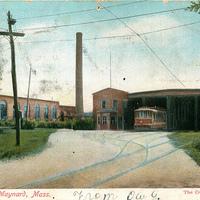 Concord, Maynard, & Hudson Car Barn on Great Road