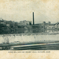 Paper Mill Dam and Assabet Mills - Early 1900s