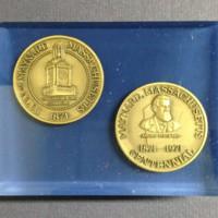 Centennial Medal Blue Paperweight 1.JPG