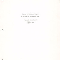 Centennial Monograph: Magdalene Chapter, Order of the Eastern Star